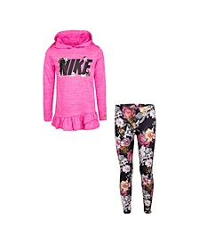 Little Girls Dri-Fit Hooded Tunic T-shirt and Leggings Set
