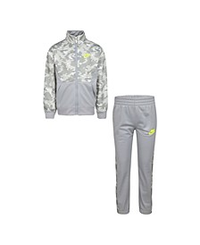 Little Boys Camo 2-Piece Tracksuit Set