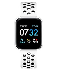 Women's Air 3 White Perforated Silicone Strap Touchscreen Smart Watch 40mm