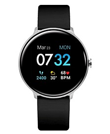 Sport 3 Unisex Touchscreen Smartwatch: Silver Case with Black Strap 45mm