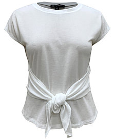 INC Tie-Front T-Shirt, Created for Macy's