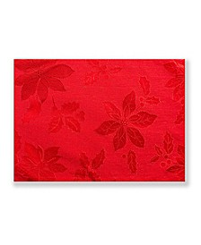 Poinsettia Legacy Damask Placemat Red 13 X 18