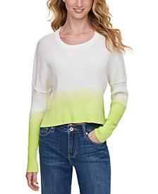 Dip-Dye High-Low Sweater