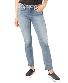 Suki Mid-Rise Curvy-Fit Straight-Leg Jeans