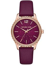 Women's Layton Dark Berry Leather Watch 38mm