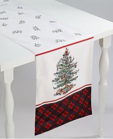 "Christmas Tree Tartan Multicolored 108"" Runner"