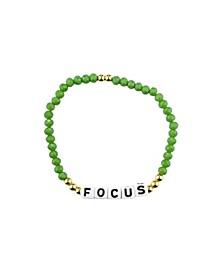 Focus 18k Gold Plated Crystal Bracelet