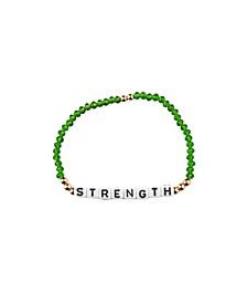 Strength 18k Gold Plated Crystal Bracelet