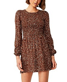 Women's Woven Hope Long Sleeve Mini Dress
