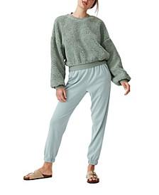 Women's Tia Teddy Balloon Sleeve Crew Sweater
