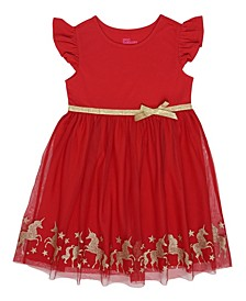 Toddler Girls Flutter Short Sleeve Tutu Dress