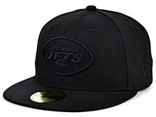 New York Jets Black on Black 59FIFTY Cap