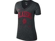 Portland Trail Blazers Women's Dry Slub V-Neck T-Shirt