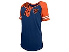 Chicago Bears Women's Logo Lace Up T-Shirt
