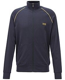 Hugo Boss Men's Logo Embroidered Piqué Track Jacket
