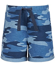 Baby Boys Camo-Print Knit Shorts, Created for Macy's