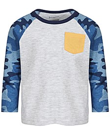 Baby Boys Camo-Sleeve Pocket T-Shirt, Created for Macy's