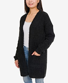 Juniors' Fuzzy Cardigan