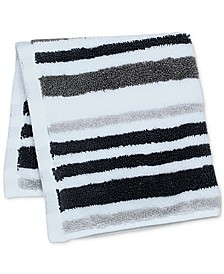 "Elite Cotton Tri-Stripe 13"" x 13"" Wash Towel, Created for Macy's"