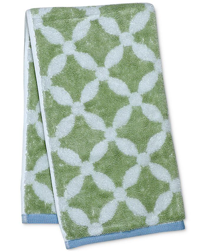 "Martha Stewart Collection - Dot Lattice 16"" x 28"" Hand Towel"