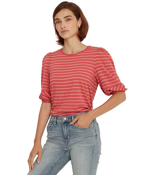 Lauren Ralph Lauren Puffed Sleeve Top