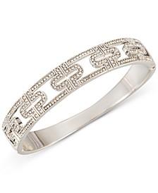 Silver-Tone Pavé Openwork Hinge Bracelet, Created for Macy's