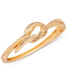 Gold-Tone Pavé Knot Bangle Bracelet, Created for Macy's