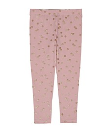 Little Girls All Over Polka Dot Print Legging