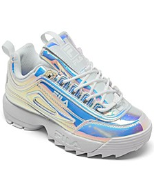 Big Girls Disruptor II Liquid Luster Casual Sneakers from Finish Line