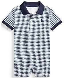 Baby Boys Houndstooth Cotton Shortall