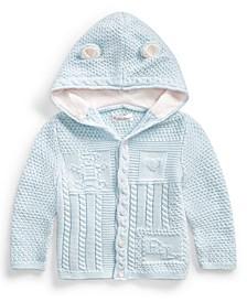Ralph Lauren Baby Neutral Bear-Ear Hooded Cardigan