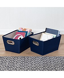 Set of Two Small Storage Bins