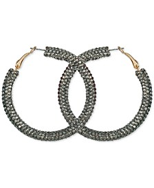 Medium Multicolor Crystal Hoop Earrings, 2""