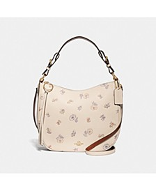 Meadow Prairie Print Sutton Leather Hobo