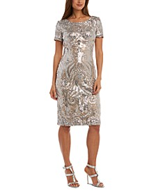 Petite Sequin V-Back Dress