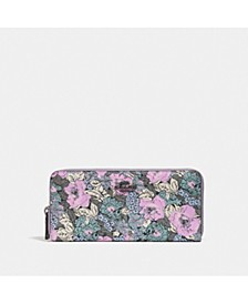 Bonnie Cashin Heritage Floral Slim Accordion Zip Around Wallet