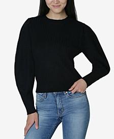 Juniors' Puff-Sleeved Sweater