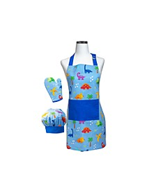 Dinosaur Deluxe Child Apron Boxed Set