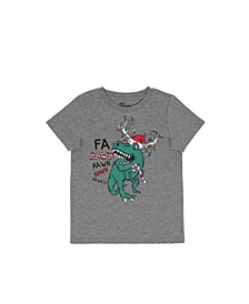 Little Boys Short Sleeve Holiday Dino Graphic T-shirt