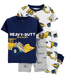 Baby Boy 4-Piece Construction Snug Fit Cotton PJs