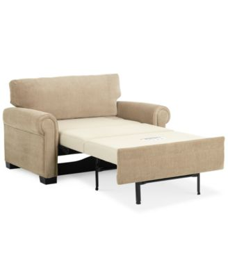 "Radford 56"" Fabric Sofa Bed Twin Sleeper, Created for Macy's"