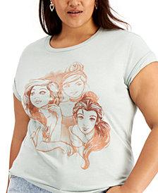 Love Tribe Trendy Plus Size Princesses Graphic T-Shirt