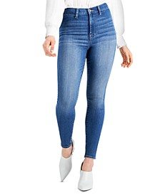 Juniors' High-Rise Skyscraper Skinny Jeans