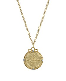 Women's Gold Tone December Flower of the Month Narcissus Necklace