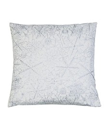 "Vedia Snowflake Sequin Linen Pillow, 19"" x 19"""