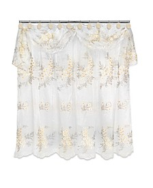 Bloomfield Sheer Shower Curtain with Valance