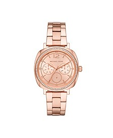 Women's Nia Multifunction Rose Gold-Tone Stainless Steel Bracelet Watch 38mm