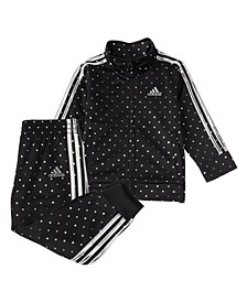 Little Girls Zip Front Tricot 2-Piece Jacket and Jogger Pants Track Set