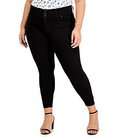 Trendy Plus Size Mid Rise Skinny Jeans
