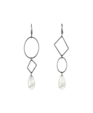 Three Tier Geometric Drop Earrings